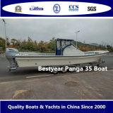 큰 Panga 35 배 어선