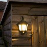 12 팩 까만 집 디자인 PIR를 가진 방수 태양 벽 빛