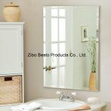セットされる大きく白い木によって組み立てられる楕円形の浴室ミラーを買いなさい(割引価格)