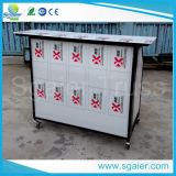 Board acrylique Portable Bar avec Wheels et Ice Bins