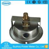 Boîtier en acier inoxydable de 60 mm avec manomètre à bride avec pinces en U