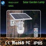 6W todo en uno luces solares integradas del jardín del LED