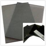 黒いガラス、暗い灰色の染められるか、または反射ガラス
