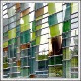 6mm verts, glace enduite en verre r3fléchissant bleu, en bronze, rose, clair pour le guichet, porte