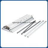 Luxuxplastikdoppelte Stahlseitliche rollen oben Standplatz-magnetischen Faltenbildung-Stahldeckel