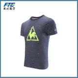 T-shirt à manches rayées à imprimé personnalisé