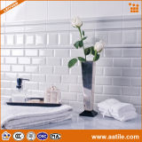"3 "" X6 "" White Glazed Ceramic Bathroom Wall Tiles imprägniern für Interior Decoration"