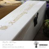 Caja de embalaje del vino de madera sólida de Hongdao para la venta