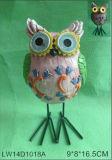 Popular pájaro búho jardín decoración lámpara solar (jn147)