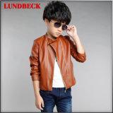 Куртка PU способа для пальто детей мальчика