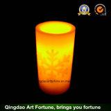 Linterna de huracán de cristal de la vela de la manija del yute para la decoración del jardín