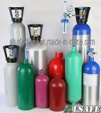 L'argon, elio, serbatoio di gas appiattito dell'idrogeno