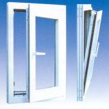 Finestra di vetro lustrata doppio di inclinazione e di girata della stoffa per tendine di PVC/UPVC
