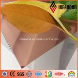2017 Miroir à laiton certifié ISO / SGS Panneau composite de 2 à 4 mm fini (laiton)