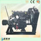 Двигатель дизеля R4105p неподвижный с муфтой и шкивом