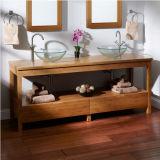 Module de salle de bains en bambou solide carbonisé moderne