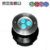 dispositivo subacuático de la baja tensión del acero inoxidable 3X3w, luz subacuática, luz de la piscina