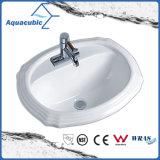 反対の陶磁器の流し(ACB023)の上の浴室の洗面器