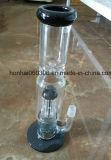 Piep verde del percolador del vidrio de Pyrex, tubo de agua