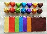 Nahrungsmittelgrad färbte Schokoladen-Aluminiumfolie-Verpackungs-Papier-Rolle