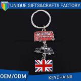 Metallo in lega di zinco Keychain dell'anello portachiavi della bandiera nazionale di figura su ordinazione di marchio