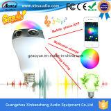 De hete Nieuwe Kleurrijke Slimme LEIDENE van het Product Draagbare Spreker Bluetooth van de Lamp met APP Controle