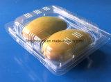 Scatola di plastica a gettare dell'animale domestico per il mango 2 parti del contenitore impaccante della frutta per il mango Packagings