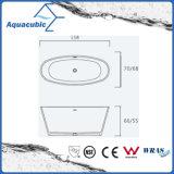 목욕탕 타원형 단단한 지상 독립 구조로 서있는 욕조 (AB6504)