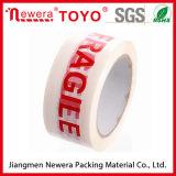 Le logo fait sur commande a estampé la bande de empaquetage acrylique à base d'eau de BOPP