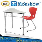 Únicas mesa e cadeira ajustáveis para o estudante, mobília de escola