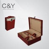 Cadre en cuir portatif de Packageing de vin d'unité centrale