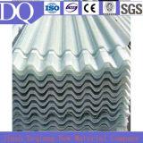 Feuille plate ondulée translucide de toiture en verre de fibre de FRP