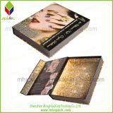 Venta caliente en forma de libro plegable del regalo del papel de embalaje caja de cosméticos