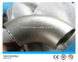 Cotovelo sem emenda do aço inoxidável Ss321 da programação 10s de ASME 90deg