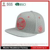 Sombrero plano clásico del Snapback del casquillo del borde de Jersey del algodón con el bordado 3D