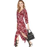 Платье 2016 женщин печатание цветка способа лета шифоновое