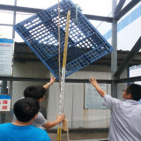 Paleta plástica material Solo-Hecha frente del HDPE del almacén