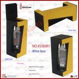 Carrinho de couro luxuoso do vinho do frasco do plutônio único (5260R1)