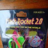 フラッシュロケットLEDは夜フライヤおもちゃによってカスタマイズされるOEMをつける