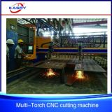多重切断トーチの鋼板/Flat棒CNC血しょうフレーム切断の穴の鋭い機械装置