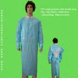 Vestido cirúrgico descartável de Non-Woven/Non Woven/Nonwoven, vestido descartável da isolação