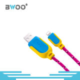 Cable de datos colorido del cable del USB del precio de fábrica