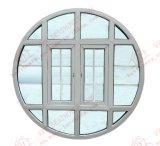 Finestra mezza di apertura UPVC figura rotonda/ovale