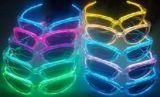 Gr-glazen, die met LEIDEN Licht en Geluiden worden geanimeerd