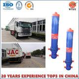 Grua hidráulica/cilindro hidráulico telescópico para derrubar o caminhão/caminhão de descarga