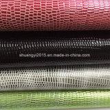 Unité centrale Leaher de surface en métal de configuration de serpent pour des chaussures