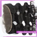 Frontal basso di seta della chiusura del merletto dei capelli umani del Virgin