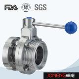 Válvula de borboleta apertada punho do produto comestível de aço inoxidável (JN-BV2002)
