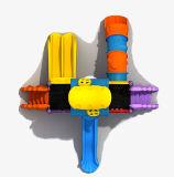 Corrediça plástica pequena para o parque de diversões ao ar livre do campo de jogos