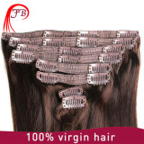 Hair ExtensionのRemy Virgin Clipの卸し売りNatural Clip